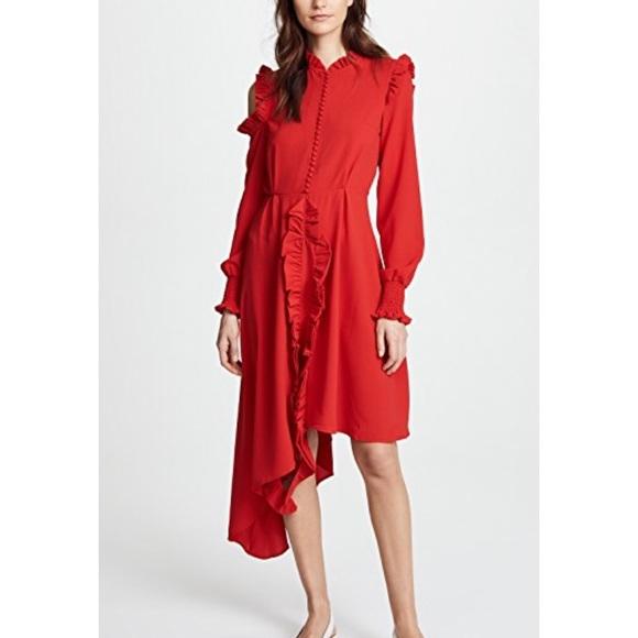 85752ee9de4d StyleKeepers Red Dress Ruffle Sweet Escape ShopBop.  M 5b82deeb74359b808239ac83
